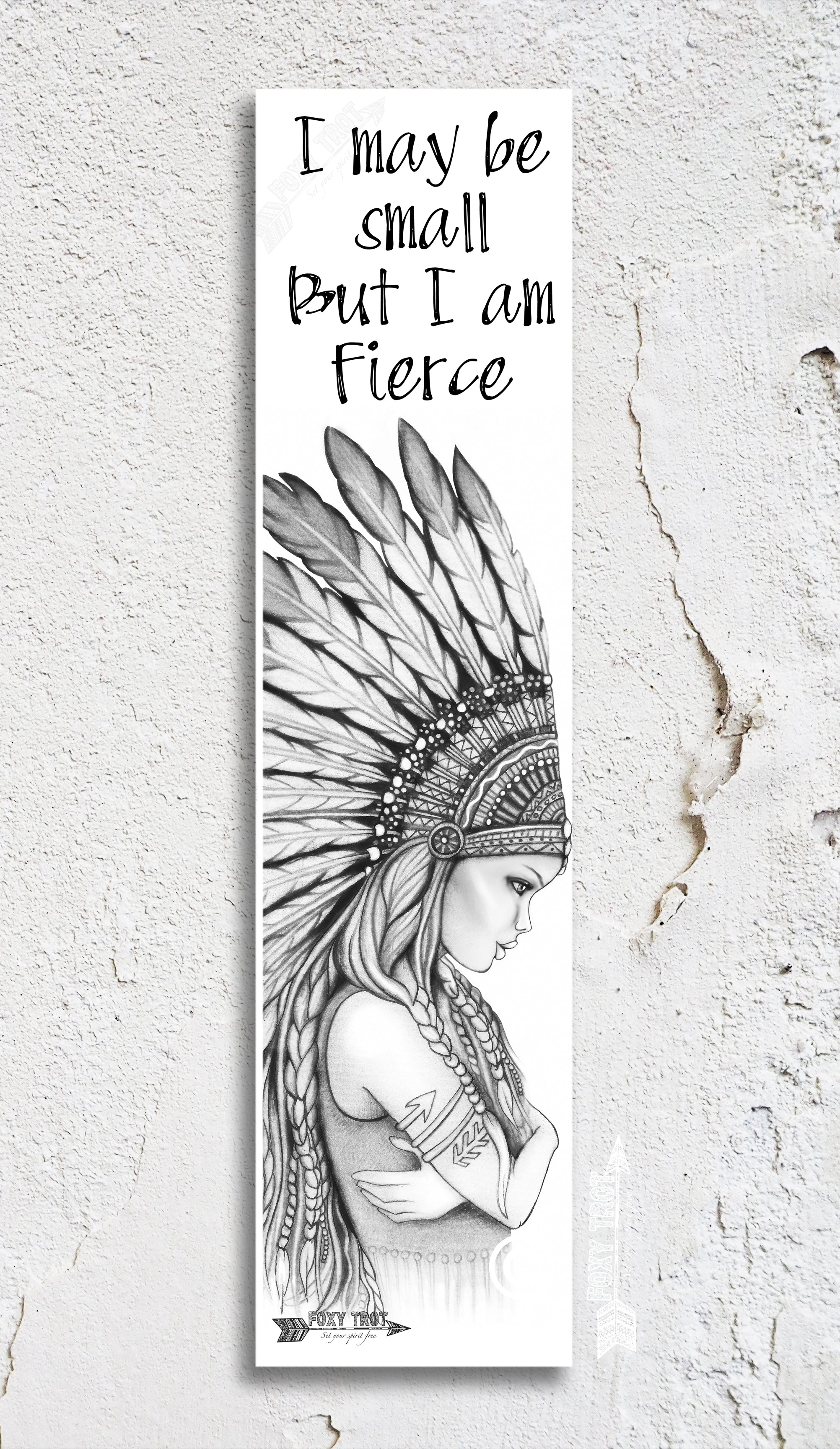 Small But Fierce Inspirational Bookmark