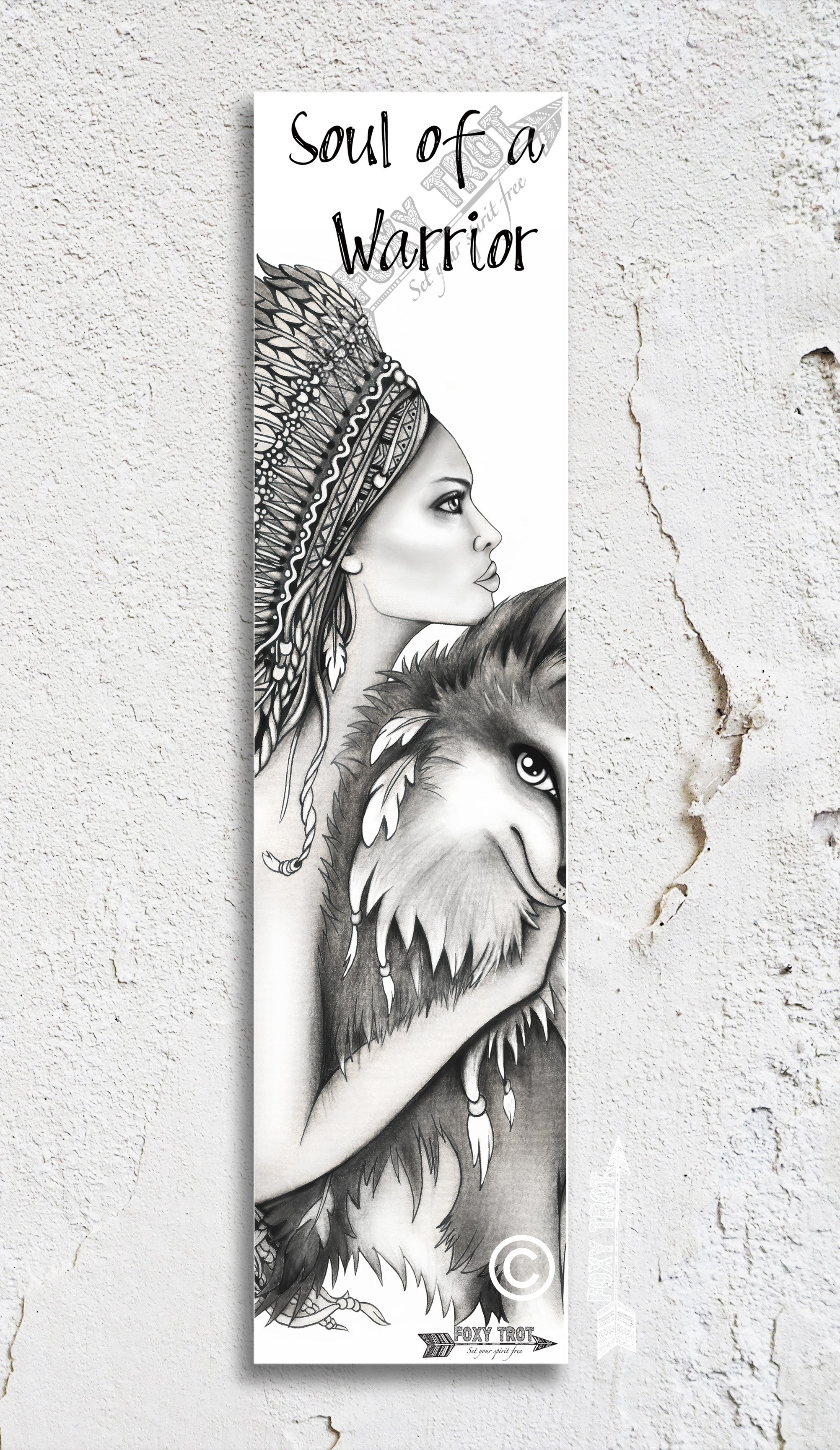 Soul Of A Warrior Inspirational Bookmark