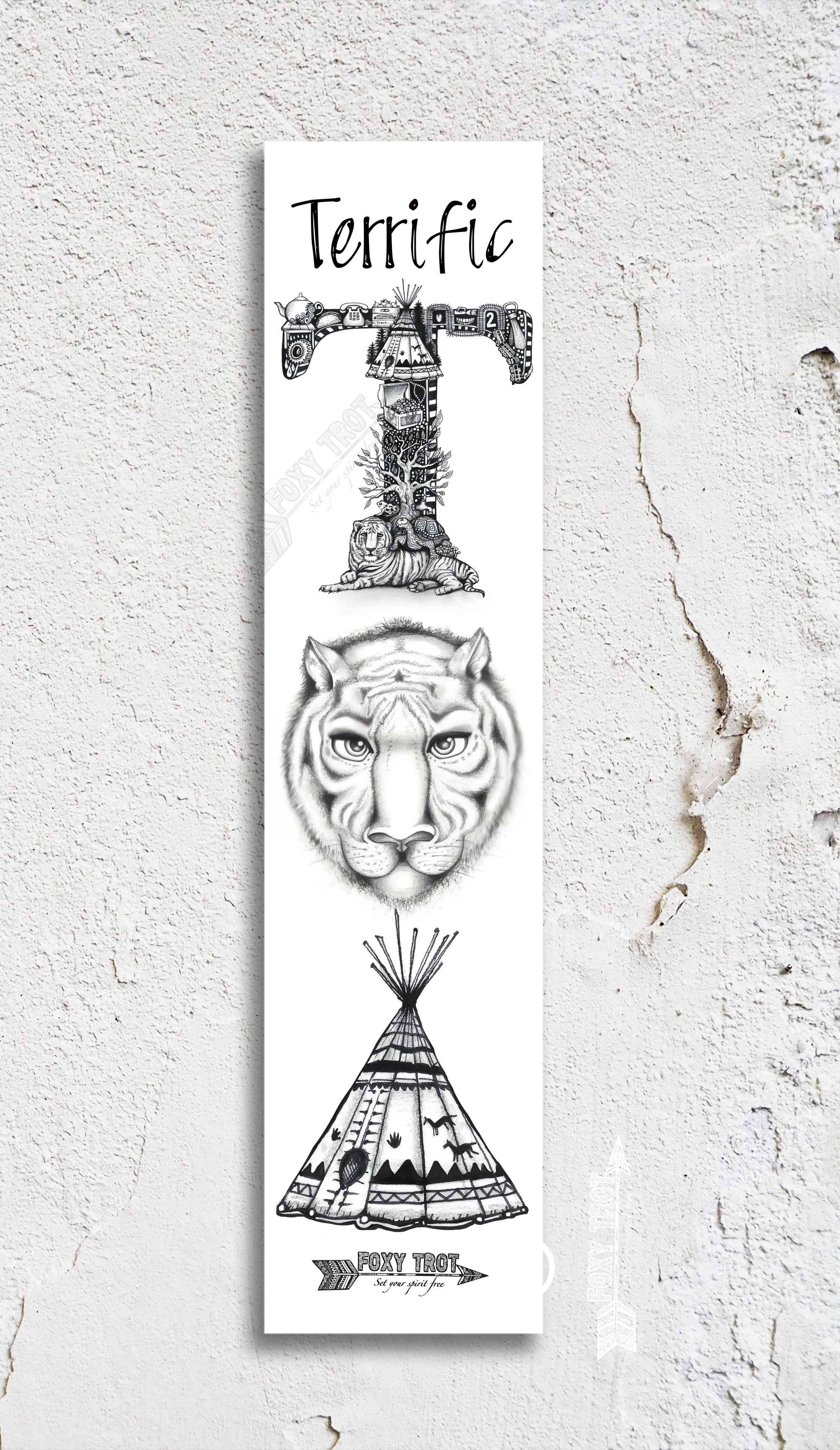 Inspirational Alphabet Bookmark T