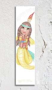 Mermaid Tiger-Lily Bookmark