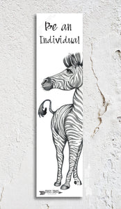 Zebra Inspirational Bookmark