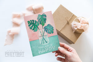 Happy Plants Card