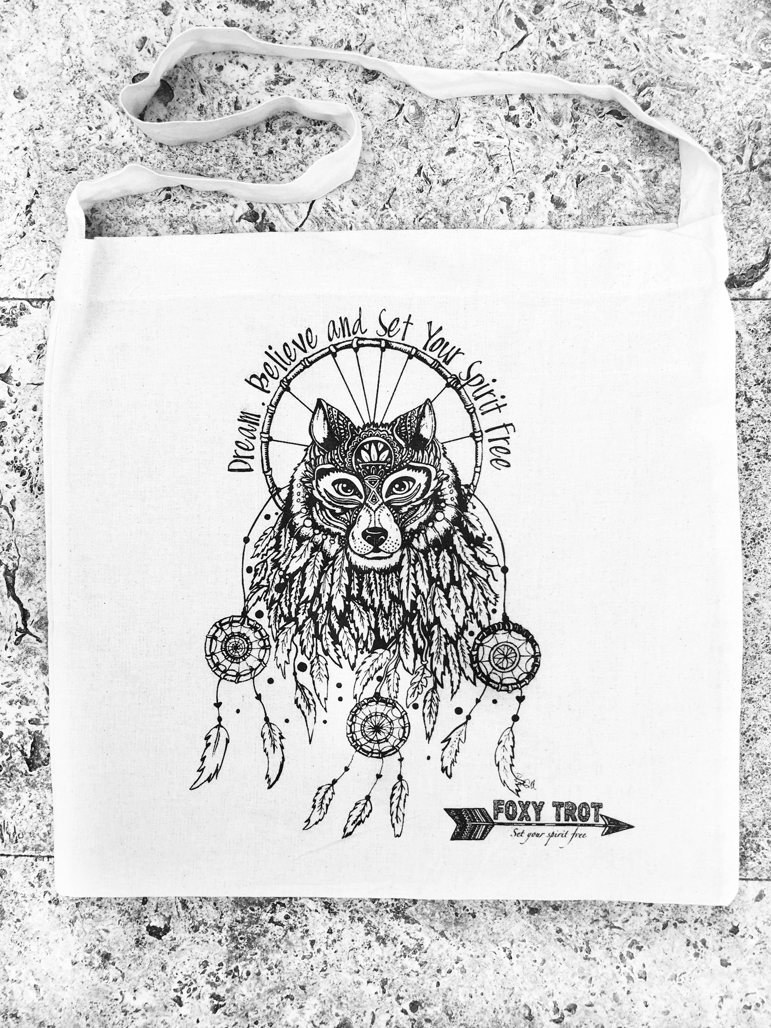Dreamcatcher Wolf Bag