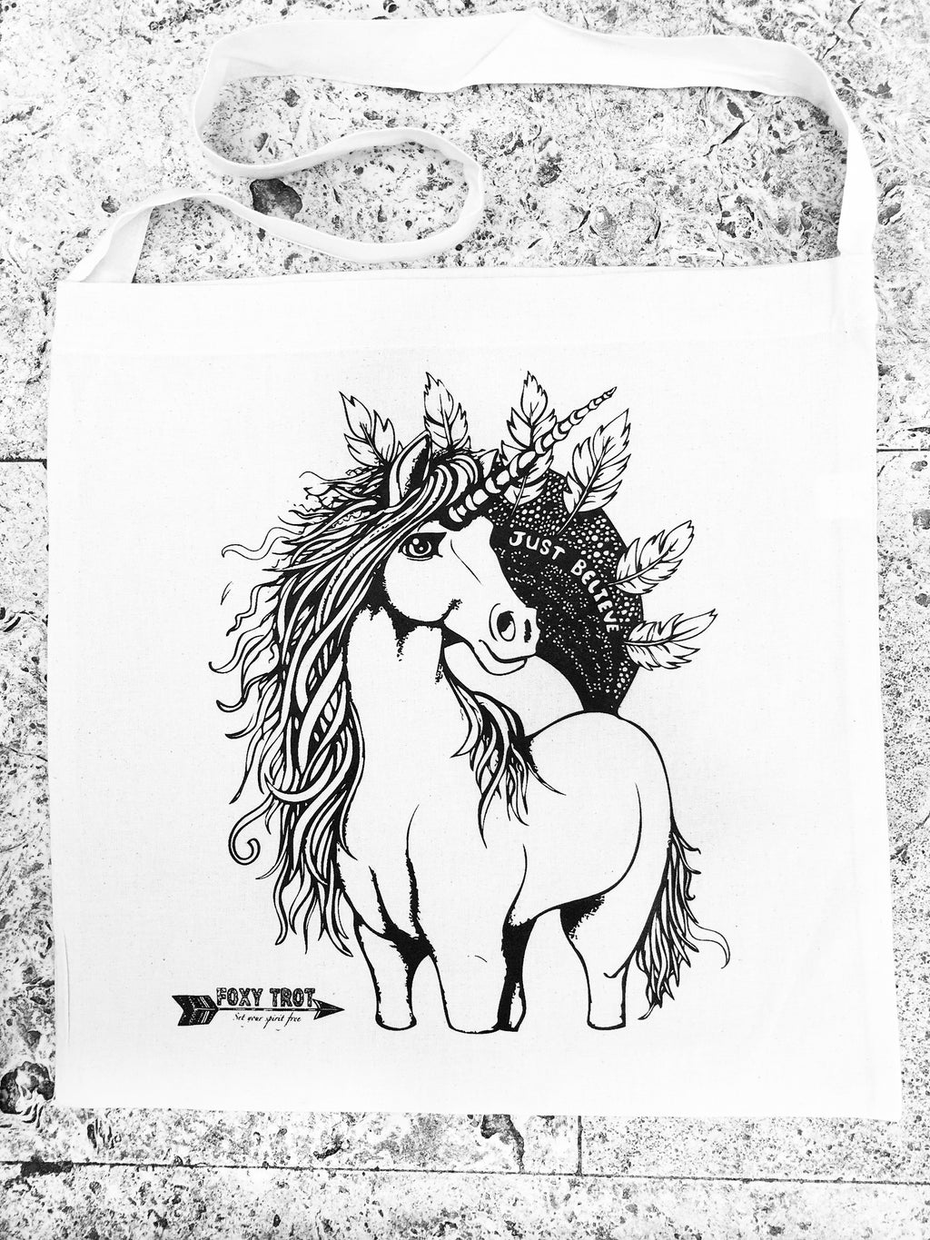 Just Believe Unicorn Bag