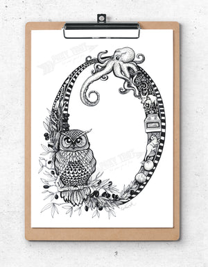 Inspirational Alphabet Bookmark O