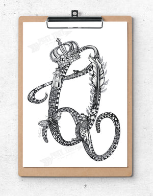 Inspirational Alphabet Bookmark Q