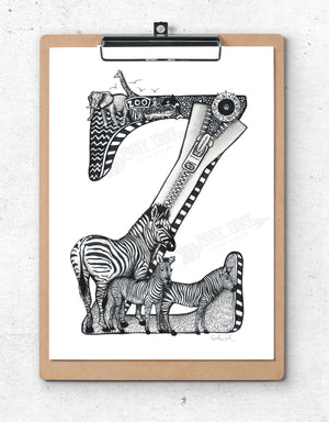 Inspirational Alphabet Bookmark Z