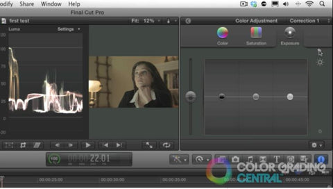 Setting Exposure by Color Grading Central