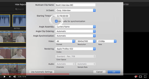 Multicam Editing in Final Cut Pro X in under 5 minutes by Brian King