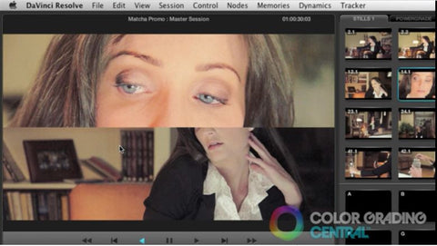 Shot-to-Shot Matching by Color Grading Central
