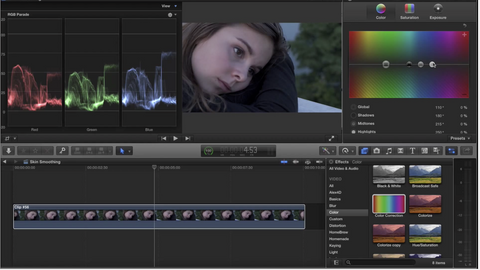 Skin smoothing and color correction by The Edit Room