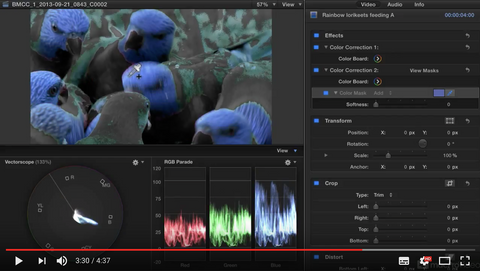 Final Cut Pro X 107: Core Training: Color Correction Masterclass - 20. Using Color Masks by macProVideo