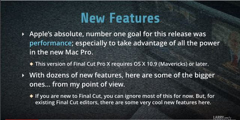 LJ New Features in Final Cut Pro X (10.1)