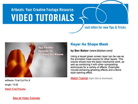 How to use a keyed video as a mask source