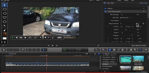 how to blur on final cut pro