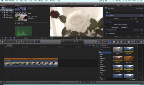 Final Cut Pro X Basics - How to Add Effects to a Clip (Adding effects)