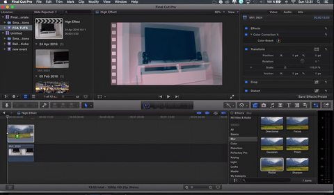 Final Cut Pro X - Drunk/High Effect