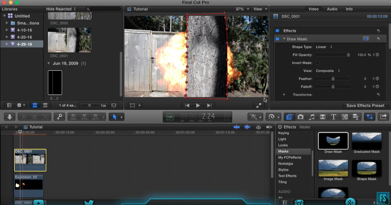 how to mask moving objects in final cut pro