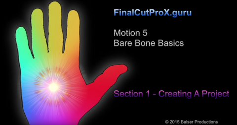 FCPXG - Motion 5 - Bare Bone Basics