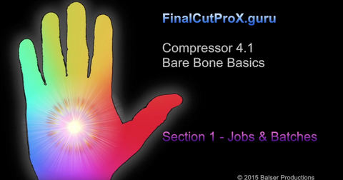 FCPXG Compressor - Bare Bone Basics