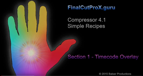 FCPXG Compressor 4.1 Simple Recipes