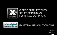 6 Free Simple Titles for Final Cut Pro X FCPX