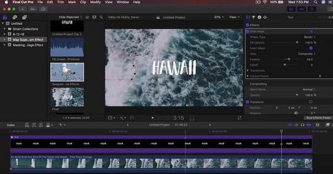 Ocean Wave Text Reveal - Final Cut Pro X