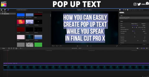 POP up TEXT Effect in Final Cut Pro X