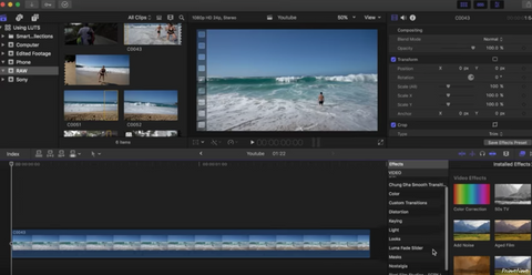How To Color Grade Your Sony a6500 Travel Videos with LUTS   FCPX Tuto