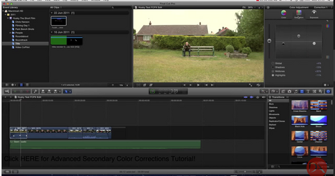 Final Cut Pro X Color Correction Plugins and resources