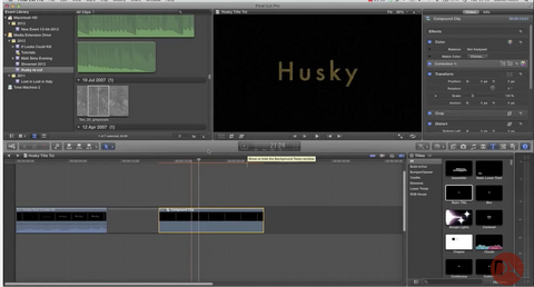 DA Advanced Title Creation / Design | Husky Film Title