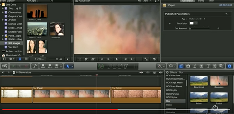 Backgrounds and Generators for Creating Effects in Final Cut Pro X