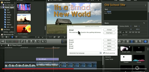 LJ How to do Spell Check and Grammar Check in FCPX