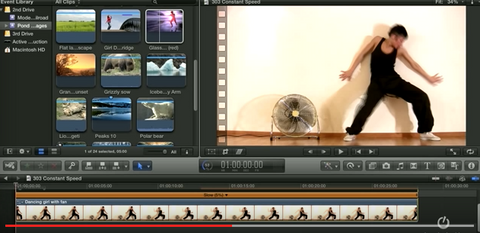 Changing Clip Speed in Final Cut Pro X