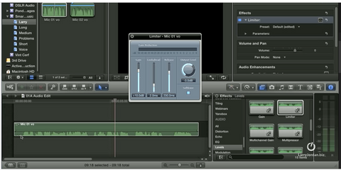 LJ Apply Limiter Filter to Audio Clips