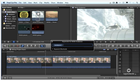 how to organize clips in final cut pro