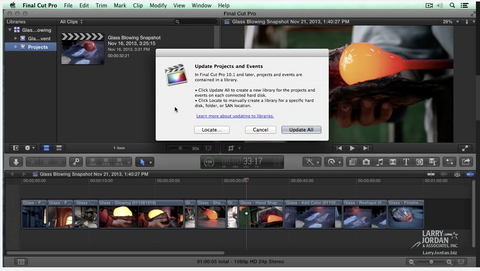 Updating Events and Projects in Final Cut Pro X (10.1) Larry Jordan