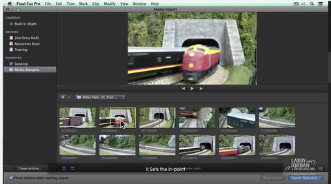 LJ Importing Media in Final Cut Pro X (10.1)