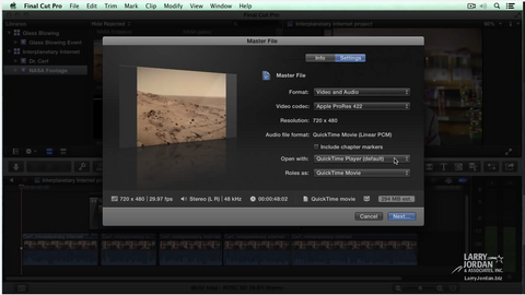 Sharing A Project in Final Cut Pro X (10.1)