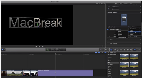 MBS #306 - 3D Text Materials in Final Cut Pro 10.2