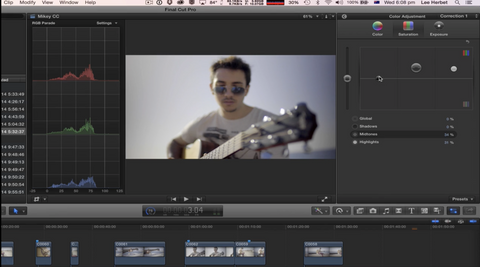 CP Colour correction in Final Cut Pro X