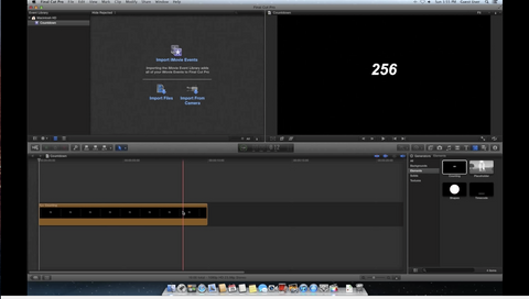 How to create a countdown in Final Cut Pro X
