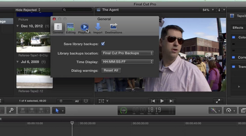 How do I turn off background rendering in Final Cut Pro X?