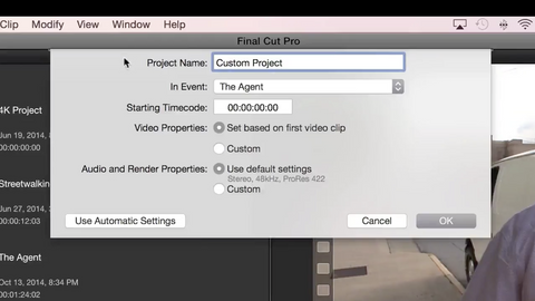 How to make a custom sized Project in Final Cut Pro X
