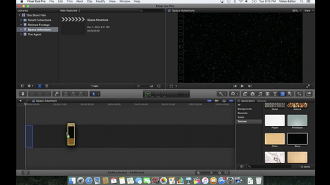 How to create an opening crawl for a space adventure in Final Cut Pro X