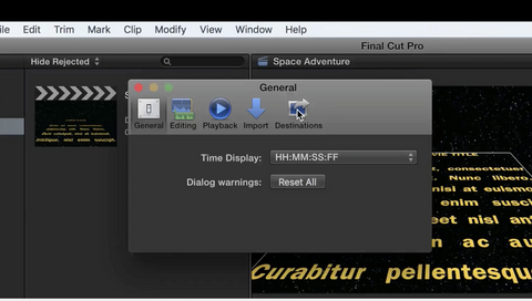 How to change the default destination in Final Cut Pro X