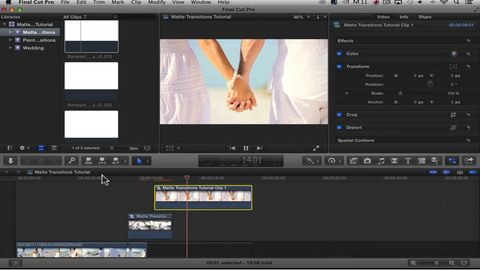 RD Use Matte Transitions to Stylize Your Edit in Apple Final Cut Pro X