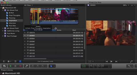 "RD ""Learning Final Cut Pro X"" Lesson 6: Building the Edit - Rough Cut"