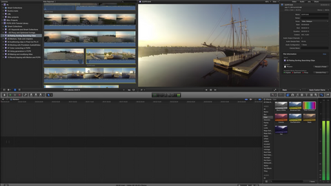Rate and sort media in FCPX