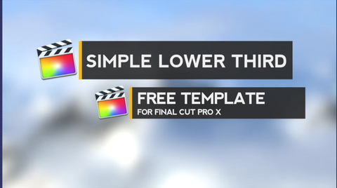 Free titles for final cut pro x downloads fcpxfree for Final cut pro lower thirds templates